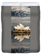 Sydney Opera House With Clouds Duvet Cover