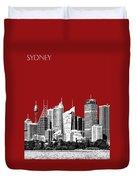 Sydney Skyline 1 - Dark Red Duvet Cover