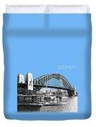 Sydney Skyline 2 Harbor Bridge - Light Blue Duvet Cover