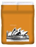 Sydney Skyline 3  Opera House - Dark Orange Duvet Cover
