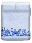 Sydney Skyline Blueprint Duvet Cover