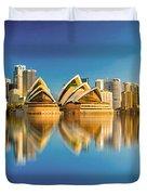 Sydney Skyline With Reflection Duvet Cover