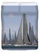 Sydney To Hobart Yacht Race Duvet Cover