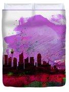 Sydney Watercolor Skyline 2 Duvet Cover