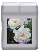 Sydneys Rose Oil Painting Duvet Cover