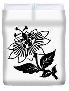 Symbol Passion Flower Duvet Cover