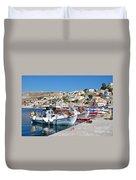 Symi Island Greece Duvet Cover