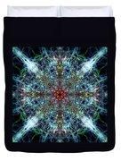 Symmetrical Silk Strands Duvet Cover