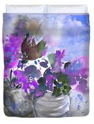 Symphony In Blue And Purple Duvet Cover