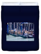 Syncronized Gondoliers Duvet Cover