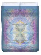 Synthecentered Doublestar Chalice In Blueaurayed Multivortexes On Tapestry Lg Duvet Cover