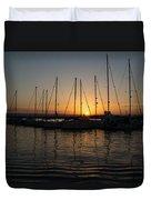 Syracuse Harbor Sunset Duvet Cover