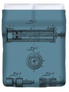 Syringe Patent Drawing Blue Duvet Cover