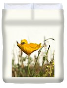 Syrphid Fly And Poppy 2 Duvet Cover