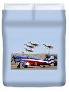 Miss America And The T-birds Duvet Cover