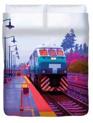 T Is For Train Duvet Cover