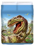 T-rex And Dinosaurs Duvet Cover