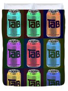 Tab Ode To Andy Warhol Black Duvet Cover