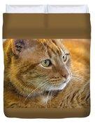 Tabby Cat Portrait Duvet Cover