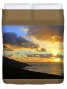 Table Mountain South Africa Sunset Duvet Cover