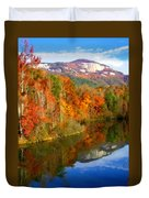 Table Rock Mirrored Duvet Cover