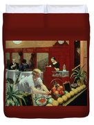 Tables For Ladies Duvet Cover by Edward Hopper