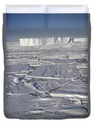 Tabular Icebergs Among Broken Fast Ice Duvet Cover