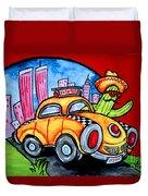 Taco Taxi Duvet Cover
