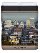 Tacoma City Of Destiny Duvet Cover