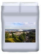 Tacoma Dome And Auto Museum Duvet Cover