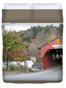Taftsville Covered Bridge Vermont Duvet Cover