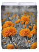 Tagetes Erecta / Aztec Marigold Flower Duvet Cover