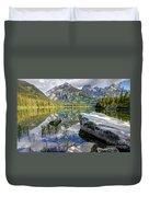 Taggart Lake  Grand Teton National Park Duvet Cover