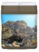 Tagged Rocks Duvet Cover