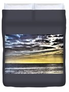 Big Clouds Over Tagus River Duvet Cover