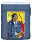 Tahitian Woman With A Flower Duvet Cover