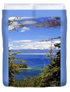 Tahoe Blue Duvet Cover