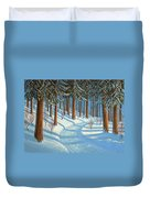 Tahoe Forest In Winter Duvet Cover
