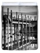 Tahoe Pier Reflection Duvet Cover
