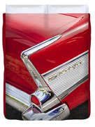 Tail Fins Are In 1957 Chevy Duvet Cover