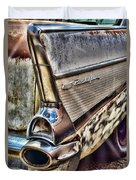 Taillight 1957 Chevy Bel Air Duvet Cover