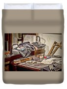 Tailors Work Bench Duvet Cover
