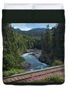 Train Tracks By The Cheakamus River Duvet Cover