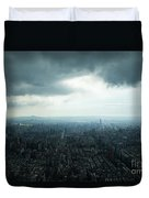 Taipei Under Heavy Clouds Duvet Cover