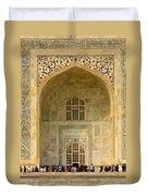 Taj Mahal Close Up Duvet Cover