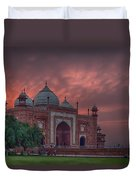 Taj Mahal Mosque At Sunset Duvet Cover