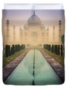 Taj Mahal Predawn Duvet Cover