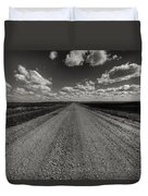 Take A Back Road Bnw Version Duvet Cover
