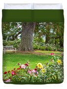Take A Seat - Beautiful Rose Garden Of The Huntington Library. Duvet Cover