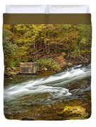 Take Me To The Other Side Beaver's Bend Broken Bow Lake Flowing River Fall Foliage Duvet Cover